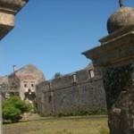 Ruinas de lo fue uno de los tres pabellones de pasajeros.