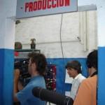 Parte del equipo de Producción Nacional-TV Ciudad en pleno rodaje.