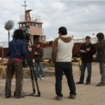 El equipo de Producción Nacional – TV CIUDAD en el Astillero de la Armada.