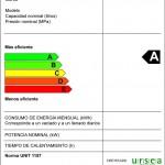 Etiqueta de eficiencia energética del termotanque