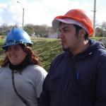Eduardo Baez y Noelia Corbo de la ONG Acción Promocional 18 de julio