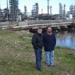 Martínez sostiene que la presencia de gaviotas sobre la desembocadura del arroyo Miguelete es una muestra de que está menos contaminado.