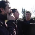 Luciano Davyt, Leonardo Sala y Cayetano Milesi integrantes de La Comarca y La Tierrita.