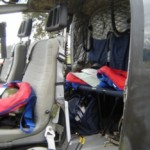 El helicóptero de la Armada pronto para despegar.