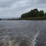 El río Santa Lucía a metros de su desembocadura.