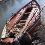 """El """"Batibote"""", la embarcación de Manzanita."""