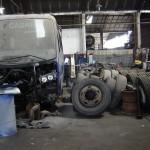 El taller mecánico es una de las áreas estratégicas de la compañía ya que un ómnibus que está parado no genera ingresos.