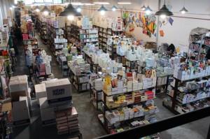 Depósito principal de la distribuidora de libros Gussi.
